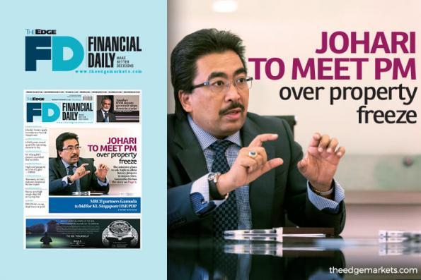 Johari to meet PM over property freeze