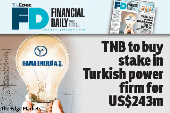 TNB to buy stake in Turkish power firm for US$243m