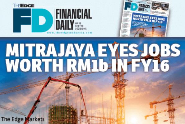 Mitrajaya放眼2016财年标得10亿令吉工程