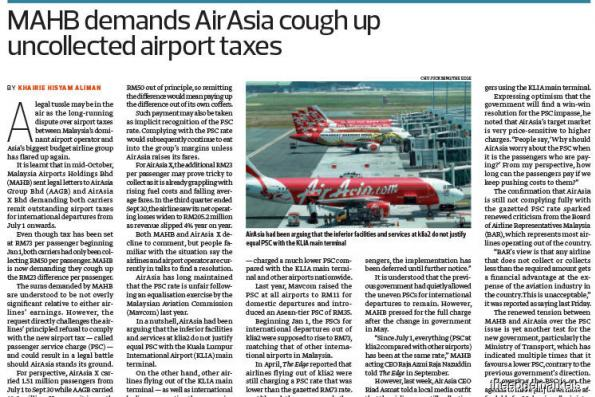 AirAsia, AAX slapped with RM36.1m lawsuit by MAHB