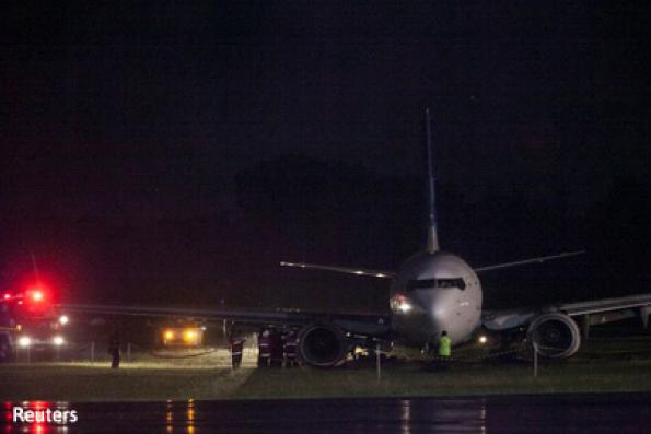 Indonesia's Yogyakarta airport closed after Garuda jet skids off runway