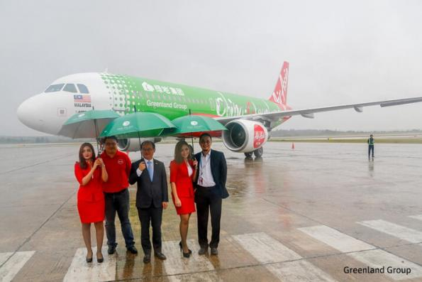 Greenland Group unveils new livery with AirAsia