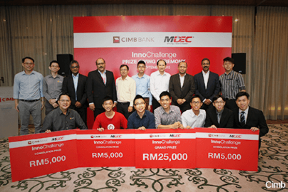 Four groups from InnoChallenge get chance to develop financial technology app for CIMB