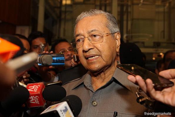 马哈迪怀疑政府有内鬼