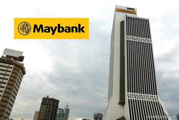 Maybank stock down; Trading volume triples