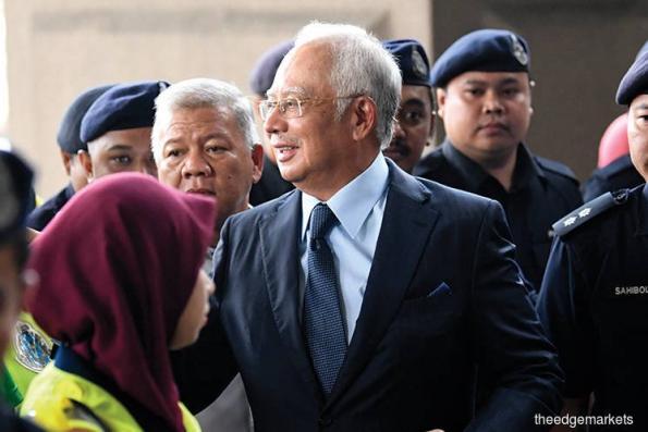 纳吉抵达吉隆坡法庭进行案件管理