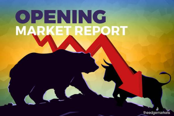 KLCI opens lower as banking stocks weigh