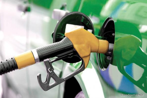 Petrol prices down by four to five sen per litre