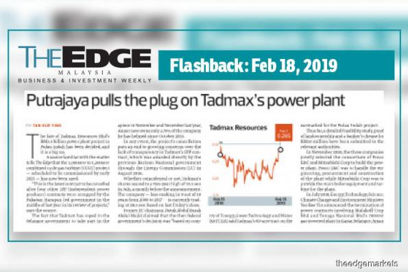 Tadmax yet to get notification on scrapping of project