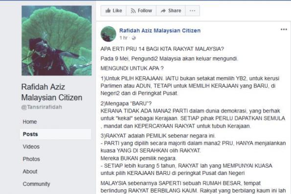 Choose Pakatan Harapan, Rafidah urges Malaysians