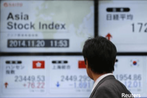 Mixed; energy shares track gains in oil prices