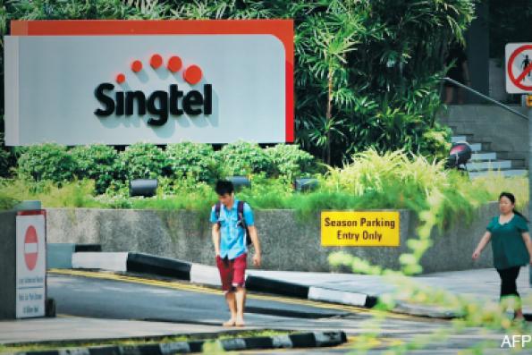 SingTel's 2Q net profit almost flat