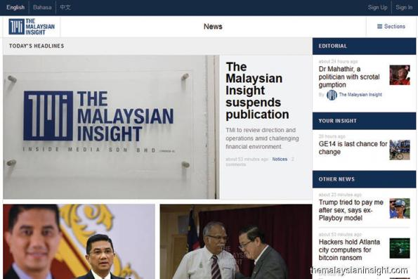 The Malaysian Insight to stop publication next week