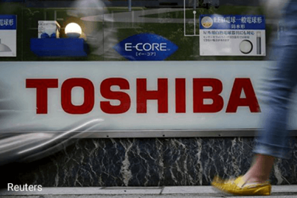 Toshiba seeking loans