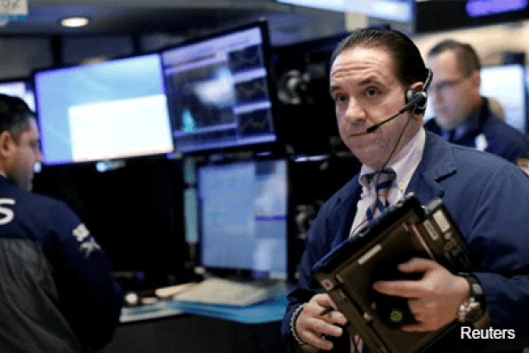 Dow notches another record high helped by DuPont; S&P slips