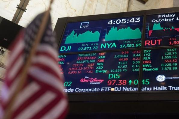 Wall Street posts slight gains helped by GE, tech stocks