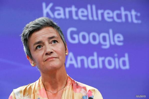 After record Google fine, EU's Vestager says she likes the US