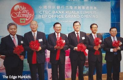 Taiwan's CTBC Bank plans to open up to five branches in Malaysia