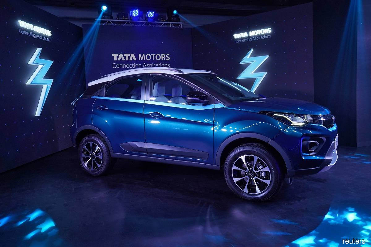 Tata Motors' electric sport-utility vehicle Nexon EV. (Photo by Reuters)