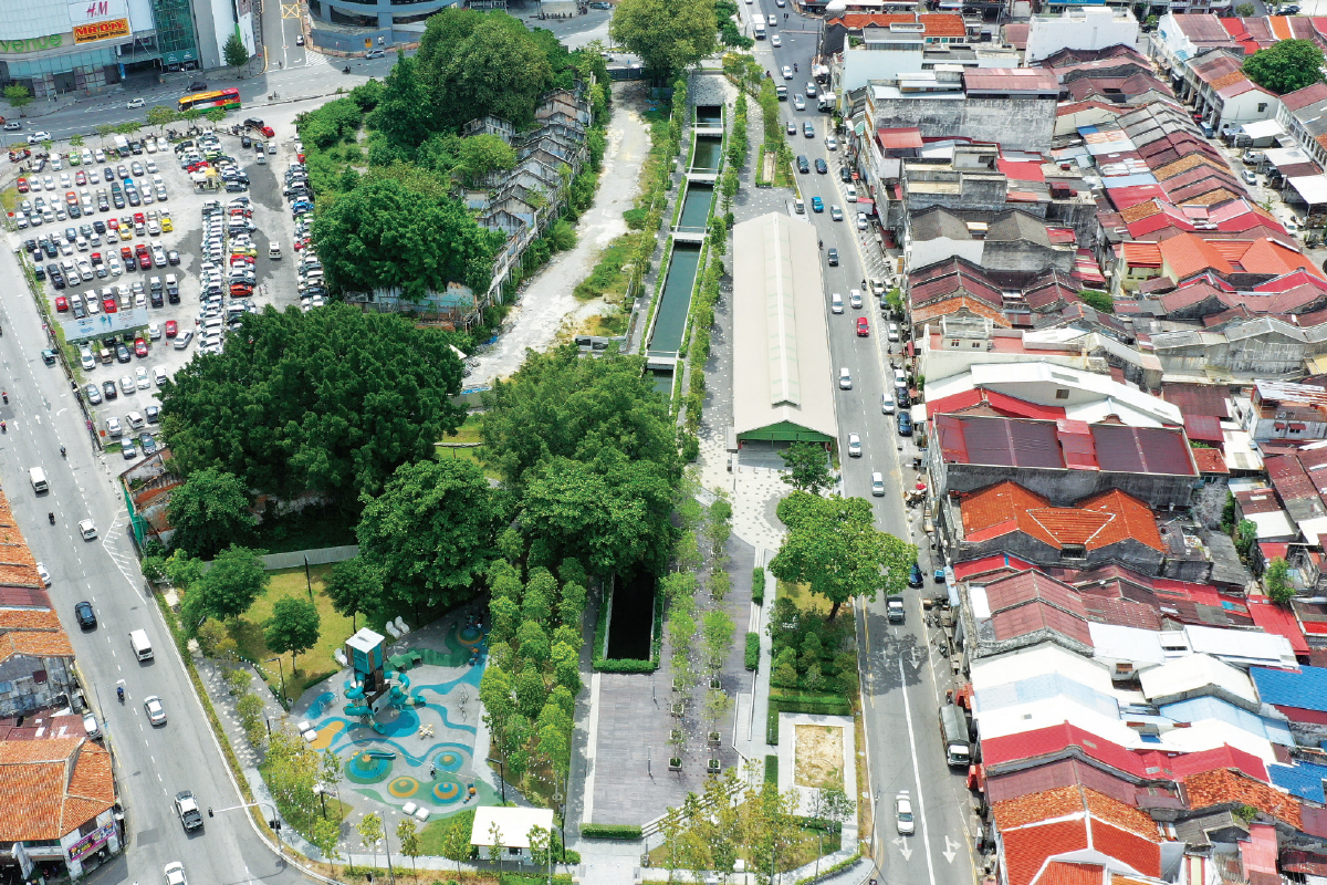 The 2.53-acre Sia Boey Urban Archaeological Park is part of Phase 5 of the Komtar Masterplan Development in George Town