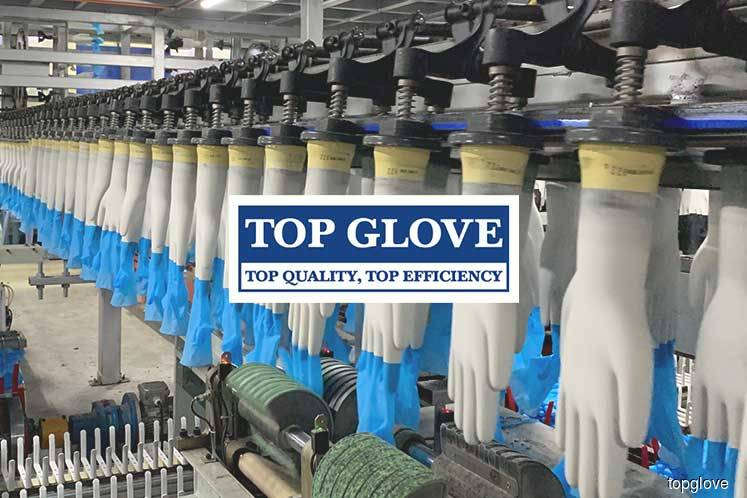Top Glove rises 3.22% on 1Q earnings, positive outlook
