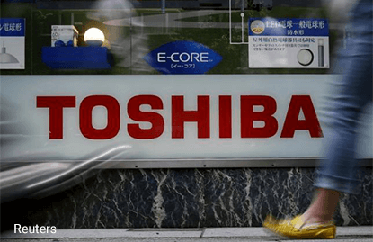 Toshiba seeking loans