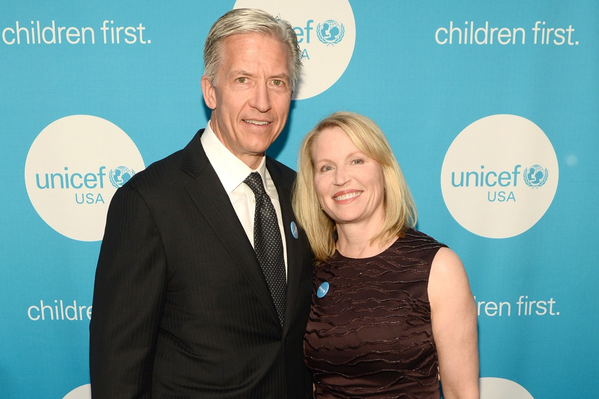 Byron Trott and Tina Trott at a UNICEF Gala in 2018. (Photo by Bloomberg)