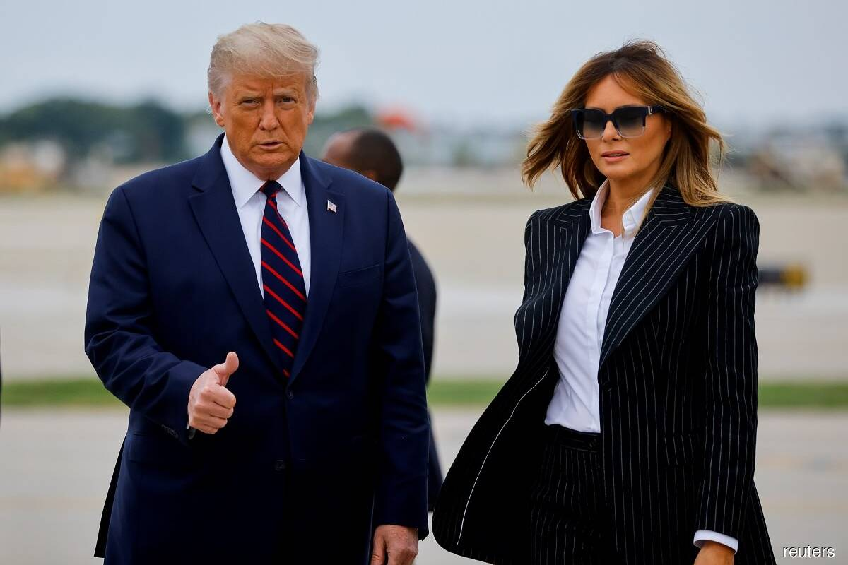 Trump (left) and Melania. (Photo by Reuters)