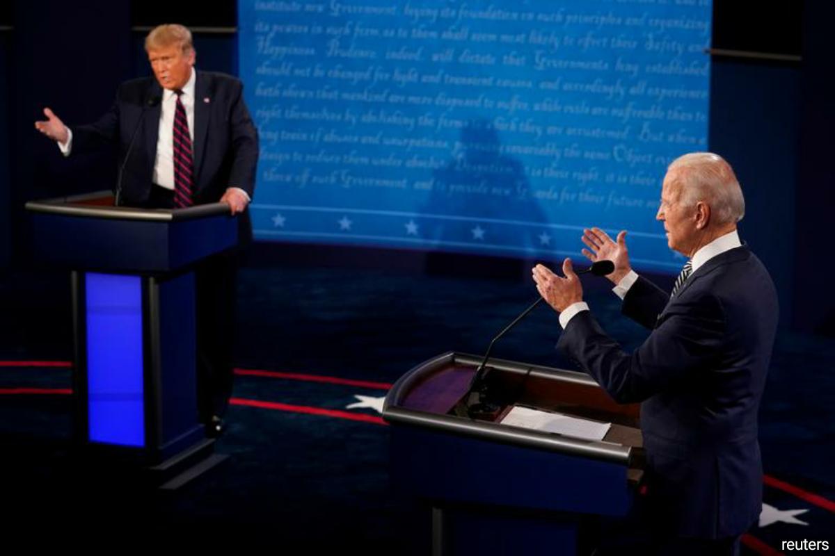Republican President Donald Trump and Democratic challenger Joe Biden ahead of the Nov. 3 election. (Photo by Reuters)