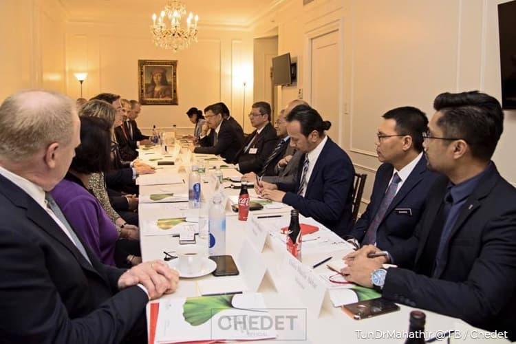 Mahathir meets with U.S. companies Chubb, FedEx, Coca-Cola in NY