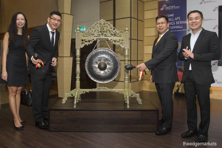 Uni Wall up 25% at 20 sen on LEAP Market debut