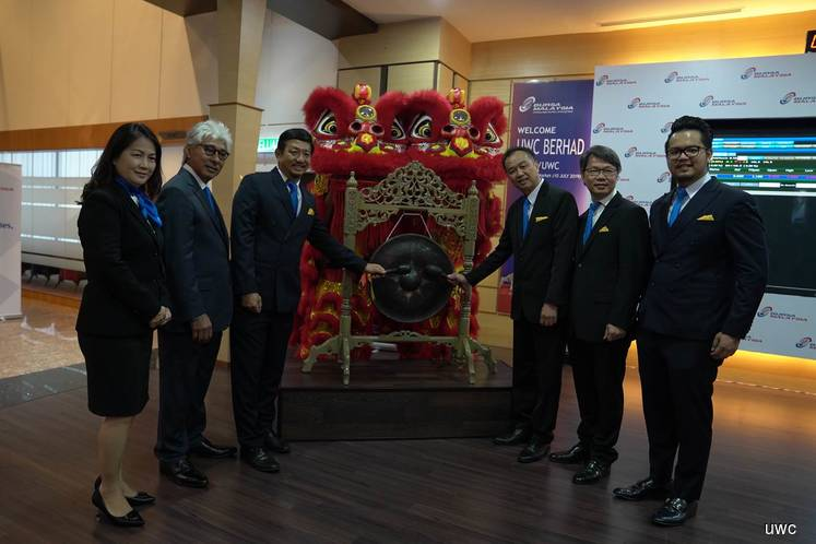 UWC up on Bursa debut, says IPO a key milestone
