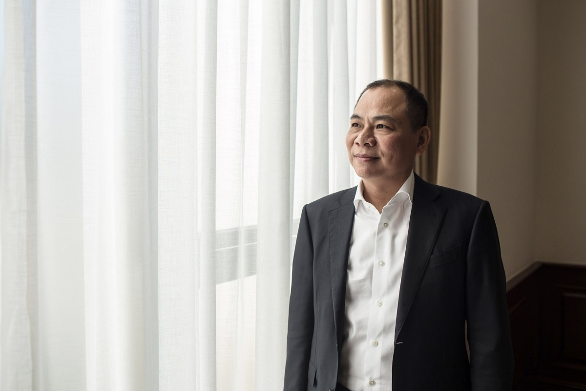 Pham Nhat Vuong, the founder of Vietnamese electric-vehicle startup VinFast. (Photo by Bloomberg)
