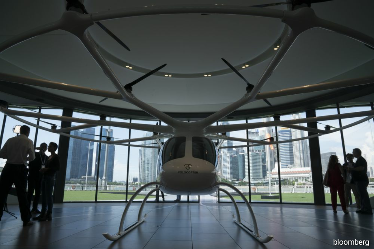 Volocopter plans to start commercial operations in Singapore by 2023, with tickets for 15-minute tourist flights already on sale for 300 euros.