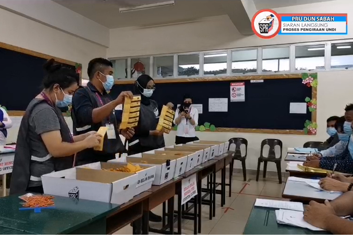 Sabah election: Polling centres close, vote counting begins