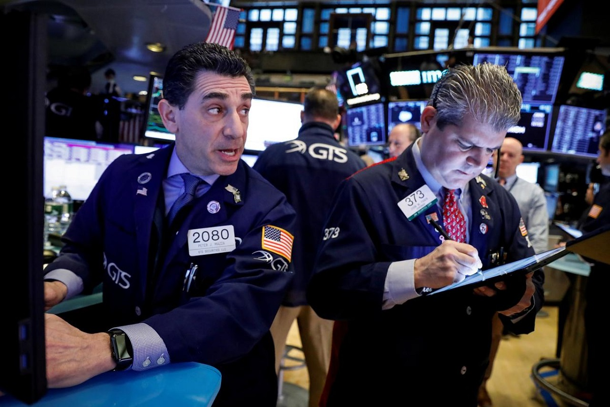 Wall Street falls with Amazon; S&P 500 posts sixth straight month of gains