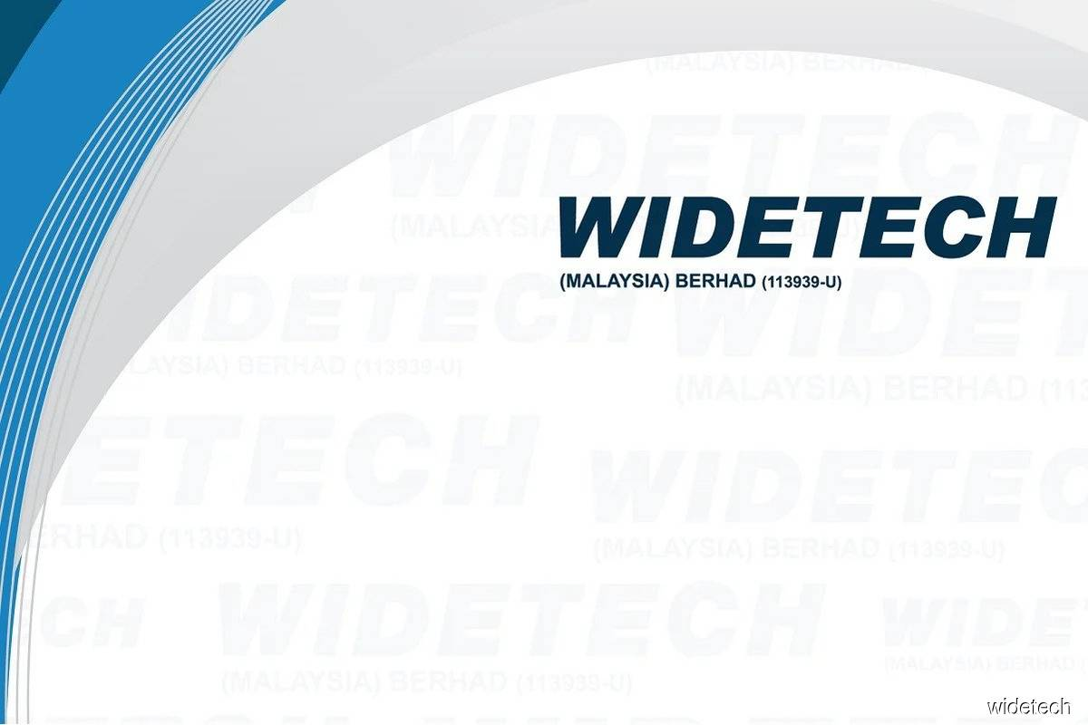 Widetech shares hit limit up and all-time high of RM2.15, emerging as top gainer