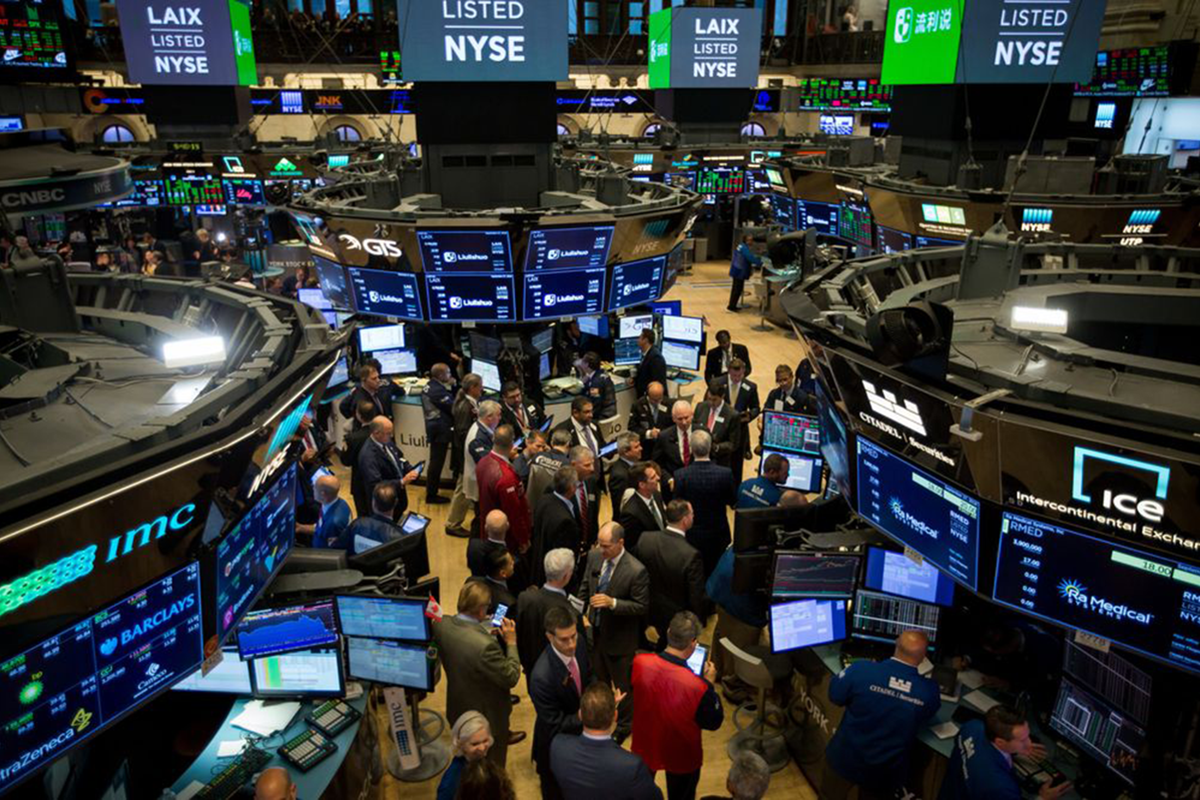 Wall Street braces for stumble in US stocks on relentless tear. (Photo by Bloomberg)