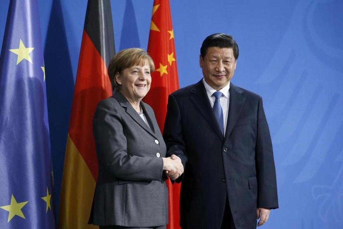 China-EU relations face challenges, Xi tells Germany's Merkel