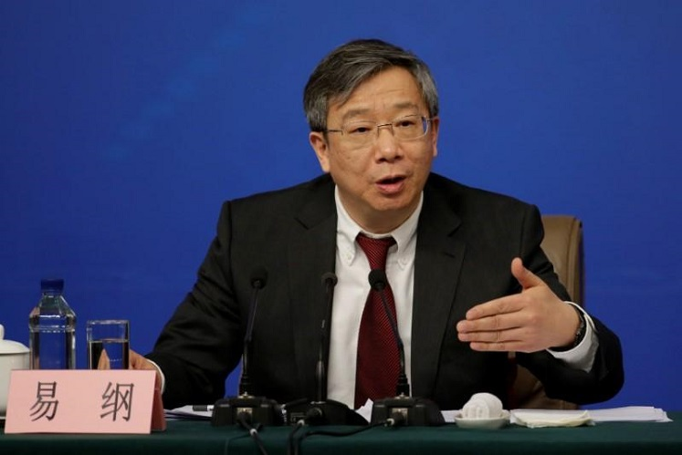 China's central bank Governor Yi Gang (Photo by Reuters)