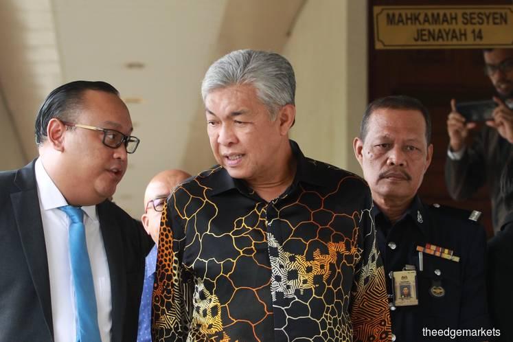 涉收贿被控7罪 阿末扎希要求审讯