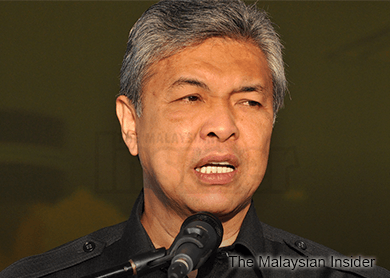 Now, Zahid says plotter called off meeting with Najib