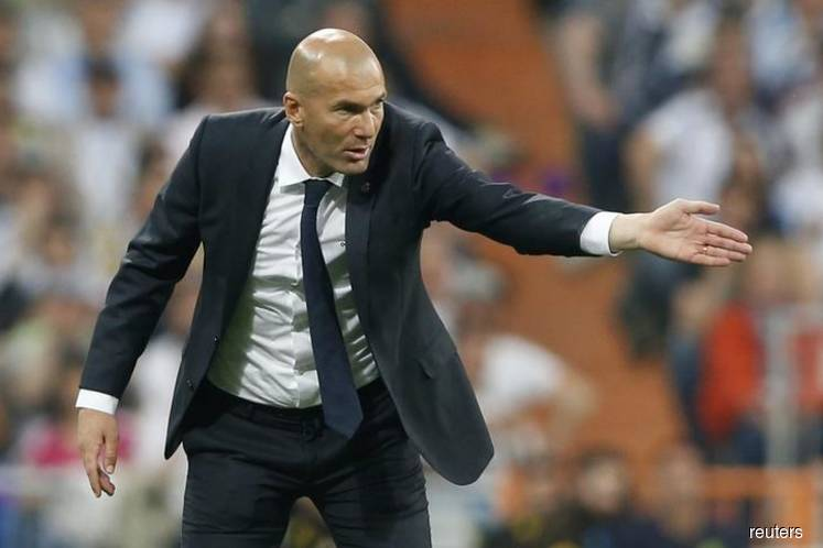 Zidane not in frame for France job at the moment, French soccer chief says